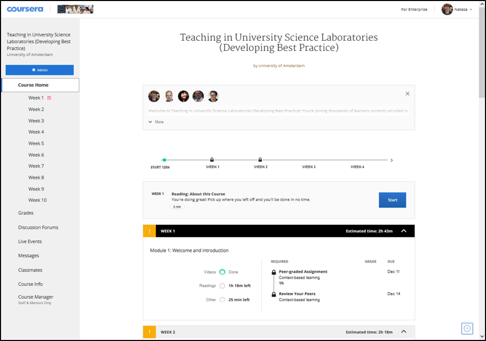Teaching in University Science Laboratories – new online course